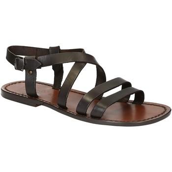 Schuhe Herren Sandalen / Sandaletten Gianluca - L'artigiano Del Cuoio 531 U MORO CUOIO Testa di Moro