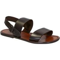Schuhe Herren Sandalen / Sandaletten Gianluca - L'artigiano Del Cuoio 500 U MORO CUOIO Testa di Moro