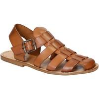 Schuhe Herren Sandalen / Sandaletten Gianluca - L'artigiano Del Cuoio 502 U CUOIO CUOIO Cuoio