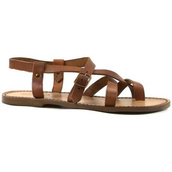 Schuhe Herren Sandalen / Sandaletten Gianluca - L'artigiano Del Cuoio 530 U CUOIO CUOIO Cuoio