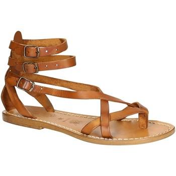 Schuhe Damen Sandalen / Sandaletten Gianluca - L'artigiano Del Cuoio 564 D CUOIO CUOIO Cuoio