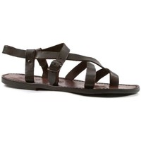 Schuhe Herren Sandalen / Sandaletten Gianluca - L'artigiano Del Cuoio 530 U MORO CUOIO Testa di Moro