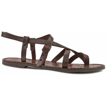 Schuhe Damen Sandalen / Sandaletten Gianluca - L'artigiano Del Cuoio 530 D MORO CUOIO Testa di Moro