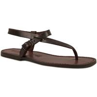 Schuhe Herren Sandalen / Sandaletten Gianluca - L'artigiano Del Cuoio 592 U MORO CUOIO Testa di Moro