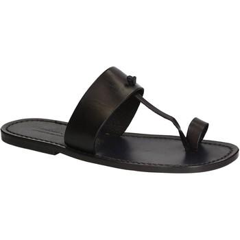 Schuhe Herren Zehensandalen Gianluca - L'artigiano Del Cuoio 554 U NERO CUOIO nero