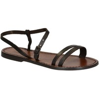 Schuhe Damen Sandalen / Sandaletten Gianluca - L'artigiano Del Cuoio 591 D MORO CUOIO Testa di Moro