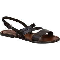 Schuhe Damen Sandalen / Sandaletten Gianluca - L'artigiano Del Cuoio 598 D MORO CUOIO Testa di Moro