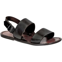 Schuhe Damen Sandalen / Sandaletten Gianluca - L'artigiano Del Cuoio 500X D MORO CUOIO Testa di Moro