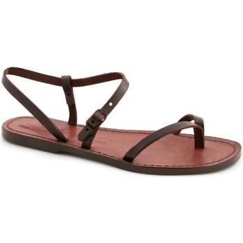Schuhe Damen Sandalen / Sandaletten Gianluca - L'artigiano Del Cuoio 590 D MORO CUOIO Testa di Moro