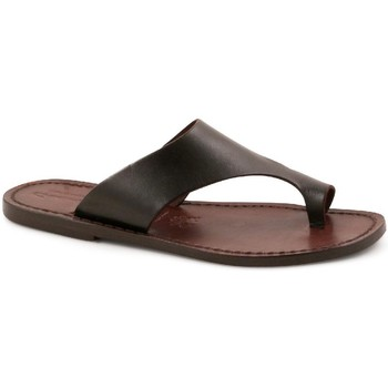 Schuhe Herren Pantoffel Gianluca - L'artigiano Del Cuoio 521 D MORO CUOIO Testa di Moro