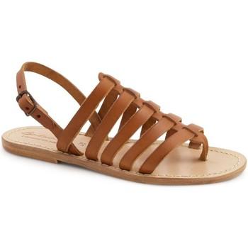 Schuhe Damen Sandalen / Sandaletten Gianluca - L'artigiano Del Cuoio 576 D CUOIO LGT-CUOIO Cuoio