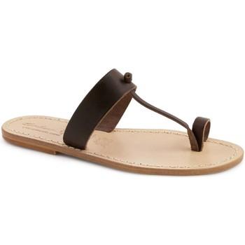 Schuhe Damen Pantoffel Gianluca - L'artigiano Del Cuoio 554 U MORO LGT-CUOIO Testa di Moro