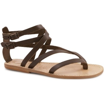 Schuhe Damen Sandalen / Sandaletten Gianluca - L'artigiano Del Cuoio 574 D MORO LGT-CUOIO Testa di Moro