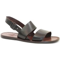 Schuhe Damen Sandalen / Sandaletten Gianluca - L'artigiano Del Cuoio 500X U MORO CUOIO Testa di Moro