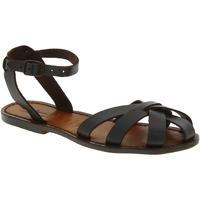 Schuhe Damen Sandalen / Sandaletten Gianluca - L'artigiano Del Cuoio 503 D MORO CUOIO Testa di Moro