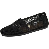 Schuhe Damen Slip on Toms Slipper Classic 10007853 black black moroccan Crochet 10007853 schwarz