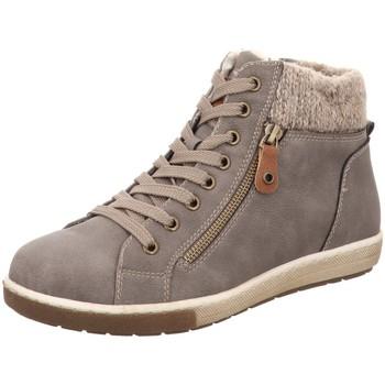 Schuhe Damen Stiefel Firence Stiefeletten Schnürhalbschuh grau 7928402 beige