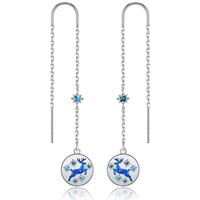 Uhren & Schmuck Damen Ohrringe Blue Pearls CRY E394 J Blau
