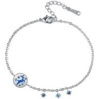 Uhren & Schmuck Damen Armbänder Blue Pearls CRY E003 J Blau