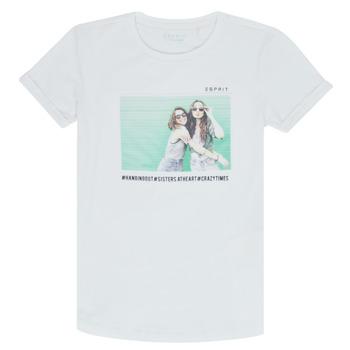 Kleidung Mädchen T-Shirts Esprit ELISH Weiss
