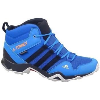 Schuhe Kinder Wanderschuhe adidas Originals Terrex AX2R Mid CP Türkisfarbig,Blau