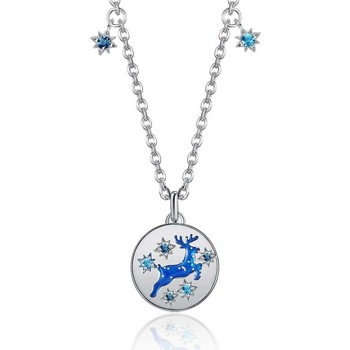Uhren & Schmuck Damen Collier Blue Pearls CRY E846 J Blau