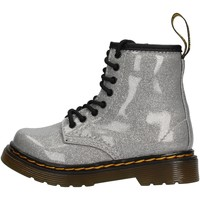 Schuhe Kinder Boots Dr Martens - Anfibio argento 1460 GLITTER ARGENTO