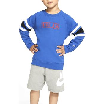 Kleidung Jungen Sweatshirts Nike - Felpa azzurro 86F292-U89 AZZURRO