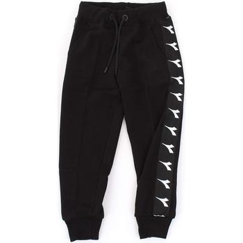 Kleidung Jungen Jogginghosen Diadora - Pantalone nero 021345-110 NERO