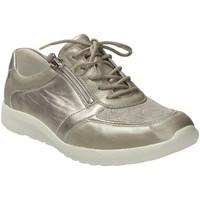 Schuhe Damen Sneaker Low Waldläufer Schnuerschuhe PIGALLE MEMPHIS FLORYSTR. 872M01-300/230 silber