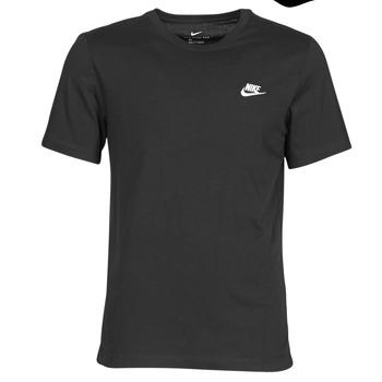 Kleidung Herren T-Shirts Nike M NSW CLUB TEE Schwarz / Weiss