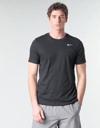 Kleidung Herren T-Shirts Nike M NK DRY TEE DFC CREW SOLID Schwarz / Weiss