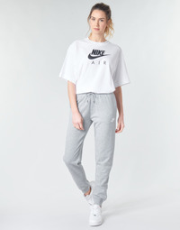 Kleidung Damen Jogginghosen Nike W NSW ESSNTL PANT REG FLC Grau / Weiss