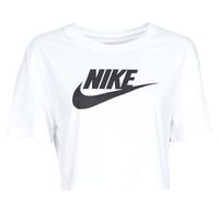 Kleidung Damen T-Shirts Nike W NSW TEE ESSNTL CRP ICN FTR Weiss / Schwarz