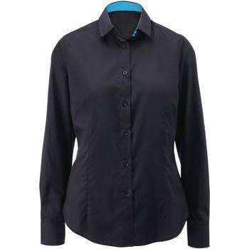 Kleidung Damen Hemden Alexandra AX060 Schwarz/Blau