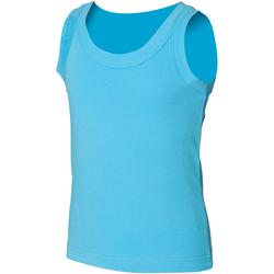 Kleidung Kinder Tops Skinni Fit SM016 Surfblau
