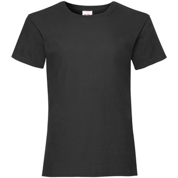Kleidung Mädchen T-Shirts Fruit Of The Loom Valueweight Schwarz