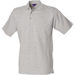 Kleidung Herren Polohemden Henbury HB100 Hellgrau