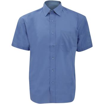 Kleidung Herren Kurzärmelige Hemden Russell 935M Corporate Blau