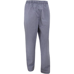 Kleidung Jogginghosen Dennys White Check Marineblau/Weiß