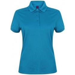 Kleidung Damen Polohemden Henbury HB461 Saphir