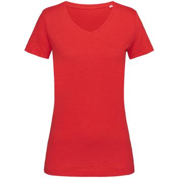 Kleidung Damen T-Shirts Stedman Stars  Karminrot