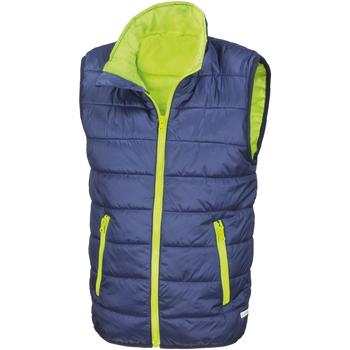 Kleidung Kinder Daunenjacken Result R234JY Marineblau/Lime