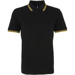 Kleidung Herren Polohemden Asquith & Fox AQ011 Schwarz/Gelb