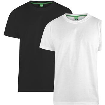 Kleidung Herren T-Shirts Duke Fenton Schwarz/Weiß