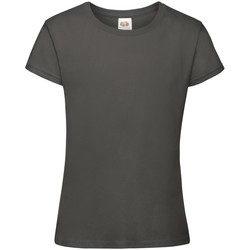Kleidung Mädchen T-Shirts Fruit Of The Loom 61017 Hell Graphite