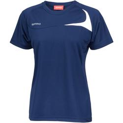Kleidung Damen T-Shirts Spiro S182F Marineblau/Weiß