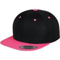 Accessoires Schirmmütze Yupoong YP002 Schwarz/ Neon Pink