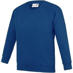 Kleidung Kinder Sweatshirts Awdis  Tiefes Royal