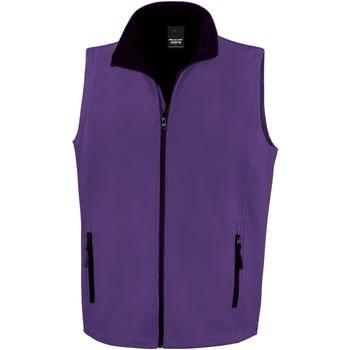 Kleidung Herren Strickjacken Result R232M Violett/Schwarz